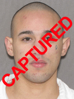 Photo of apprehended escapee Joshua Aguilera