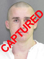 Photo of apprehended escapee Joshua Duane Barnes