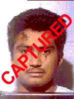 Photo of apprehended escapee Jose Juan Salaz